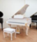 Белый с золотом рояль рококо S. Ritter фото