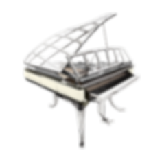 Дизайнерский рояль Blüthner модель «Poul Henningsen» в стиле ар-деко (фото)