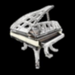 Красивый прозрачный хромированный рояль дизайна ар-деко Blüthner PH (фото)