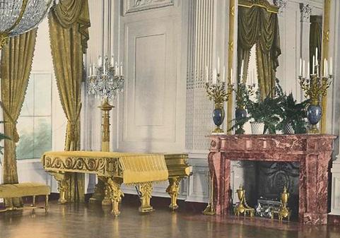 Рояль Steinway D-274 № 100 000, подаренный Теодору Рузвельту, Белый дом, фото
