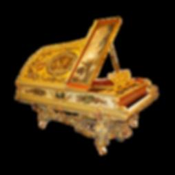 Красивый рокошный рококо-рояль К. Бехштейн Император Фридрих III (фото)