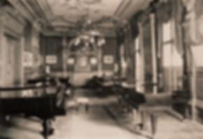 Выставочный холл К. Бехштейн в Берлине, 1910-е гг. (рояли, фото)