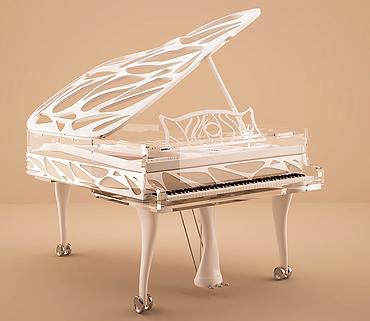Прозрачный дизайнерский немецкий рояль Блютнер ар деко (фото)