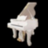 Рококо-рояль белый Риттер малый кабинетный длиной 166 см (фото)