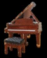 Коричневый кабинетный рояль Бехштейн в отделке деревом моаби (фото)