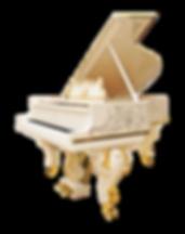Steinway & Sons Pompadour рояль Стейнвей Помпадур дизайна рококо белый с золочением и инкрустациями (фото)
