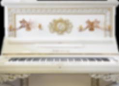 Белое дизайнерское фортепиано барокко (фото)