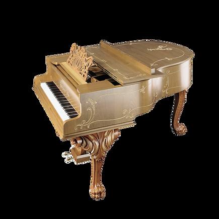 Красивый элитный рояль рококо Штайнгребер «Лювиные лапы» (фото)