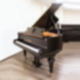 Черный старинный немецкий рояль Schiedmayer (фото)