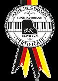 Сертификат фортепиано BVK «made in Germany» (фото)