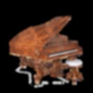 Самые красивые рояли дизайна Galimberti Италия Роскошное барокко Королева Виктория (фото)