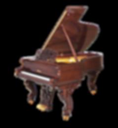 Blüthner дизайнерский рояль в стиле ренессанса викторианской эпохи в отделке орехом, Блютнер (Германия), фото