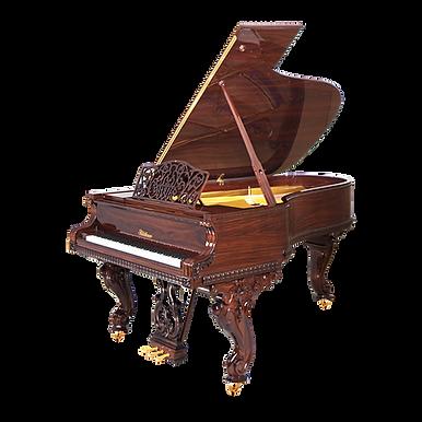 Барокко-рояль «Королева Виктория» Blüthner, Германия, отделка орехом (фото)