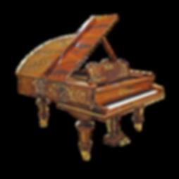 Красивый роскошный рояль с инкрустациями К. Бехштейн «Сфинкс» (фото)