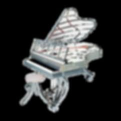 Seiler Showmaster — экстраординарный прозрачный хромированный рояль Зайлер Шоумастер (Германия), фото