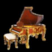Самый красивый рояль Монплезир дизайн рококо бронза золото дерево махагон (фото)
