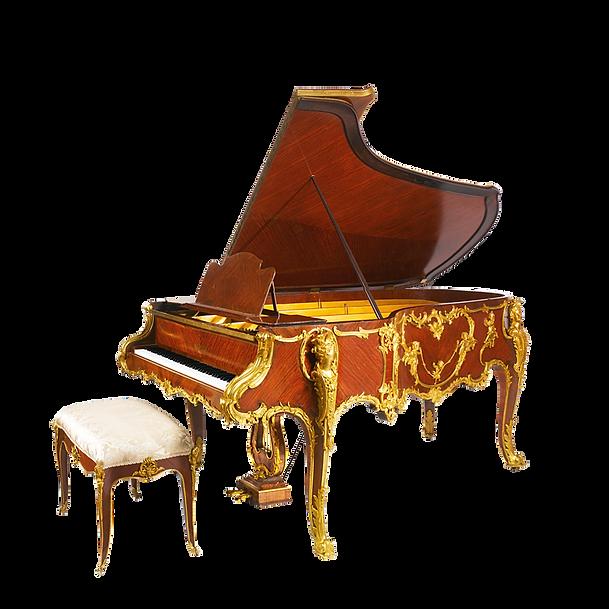 Самый красивый рояль Монплезир дизайн рококо резьба золото дерево махагон (фото)