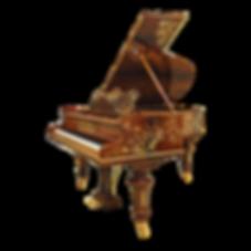 Кабинетный роскошный рояль C. Bechstein с инкрустациями и отделкой камнями и бронзой (фото)