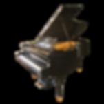 Чёрный старинный аутентичный кабинетный рояль Rönisch (фото)