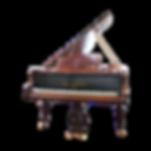 Венский старинный антикварный рояль в отделке орехом (фото)