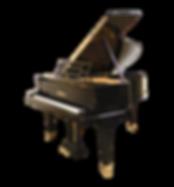 Черный кабинетный немецкий рояль Блютнер Blüthner дизайна ар-деко (фото)