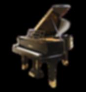 Черный кабинетный немецкий рояль Блютнер (фото)