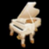 Белый рококо-рояль August Förster «Людовик XV» (фото)