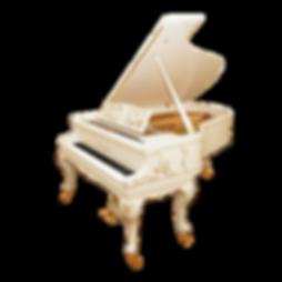 Красивый бело-золотой рококо-рояль August Förster (фото)