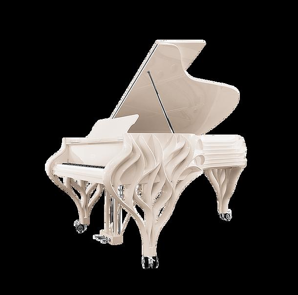 Самый красивый спагетти-рояль Попрыгунья стрекоза в цвете слоновой кости (фото)