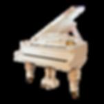 Старинный кабинетный немецкий белый рояль Рёниш Rönisch (фото)