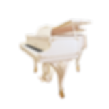 Белый мини рояль S. Ritter (Риттер) с резьбой (фото)