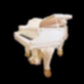 Мини рояль рококо Ritter белый матовый д