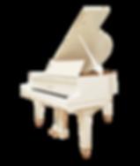 Белый мини рояль Аугуст Ферстер немецкий длиной 145 см (фото)