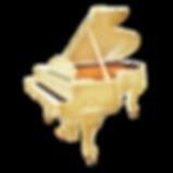 Бежевый кабинетный рояль дизайна рококо Людовик XV (фото)