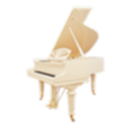 Красивый белый рояль оттенка цвета «слоновая кость» August Förster Германия (фото)