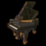 Кабинетный чёрный рояль J. Becker (Якоб Беккер) в стиле модерн (ар-нуво), фото