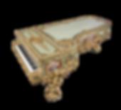 Рояль рококо Король Солнце Людовик Четырнадцатый (фото)