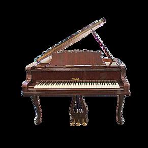 Коричневый рококо рояль Петроф-Вайнбах 173 см (фото)