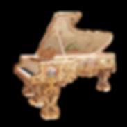 Самый красивый рояль Король-Солнце Людовик XIV золото живопись бронза (фото)