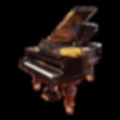 Чёрный кабинетный резной немецкий рояль Блютнер (фото)