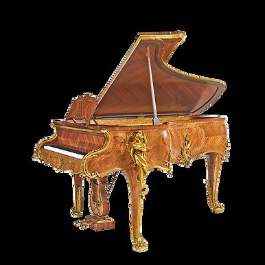 Красивый рококо-рояль Трианон роскошного дизайна бронзовые скульптуры золото орех (фото)
