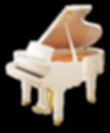 Общий вид кабинетного рояля Каваи в белой отделке (фото)