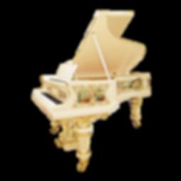 Красивый рояль с живописью Blüthner (фото)
