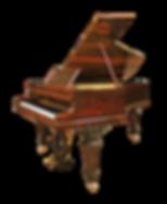 Антикварный немецкий коричневый рояль Дж. Л. Дайсен Берлин (фото)