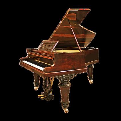Красивый старинный коричневый немецкий рояль Дж. Л. Дайсен Берлин (фото)