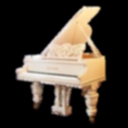 Красивый белый резной рояль C. M. Schröder Санкт-Петербург (фото)