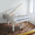 Классический старинный белый Steinway & Sons (рояль, фото)