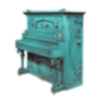 Дизайнерское немецкое пианино-мечта цвета морской волны (фото)
