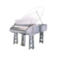 Seiler Terrestre — дизайнерский хай-тек рояль серебристый металлик Зайлер «Терестре», Германия (фото)