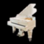 Белый рояль немецкий Duysen Berlin Дайсен Берлин красивый резной старинный (фото)
